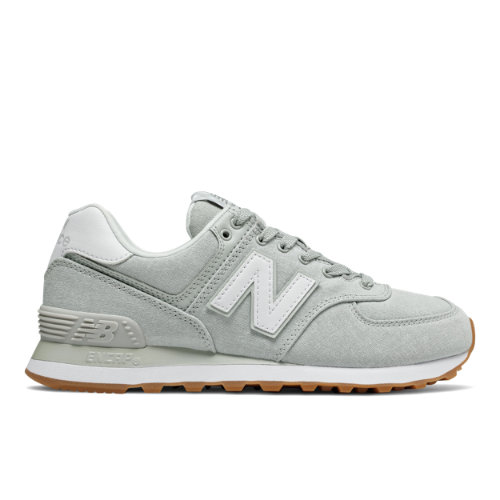 New Balance 574 Gingham Women's Shoes - Grey (WL574SKD)
