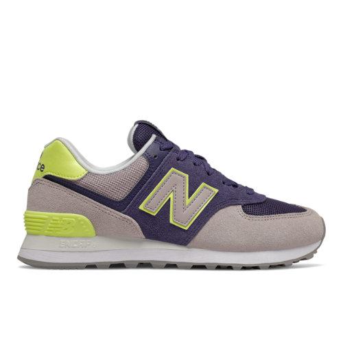 New Balance 574 Women's Lifestyle Shoes - Purple / Grey (WL574SOU)