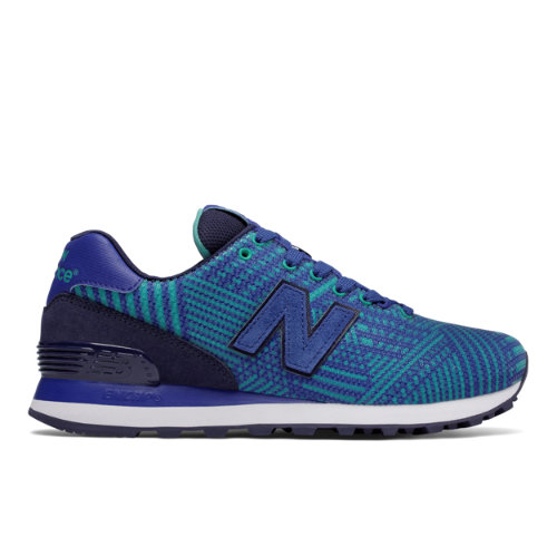 New Balance 574 Beaded Women's 574 Shoes - Blue (WL574TBF)