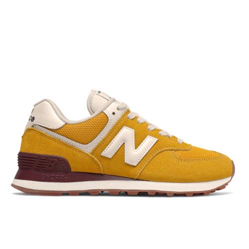 New Balance 574 Women's Lifestyle Shoes - Yellow (WL574VE2)