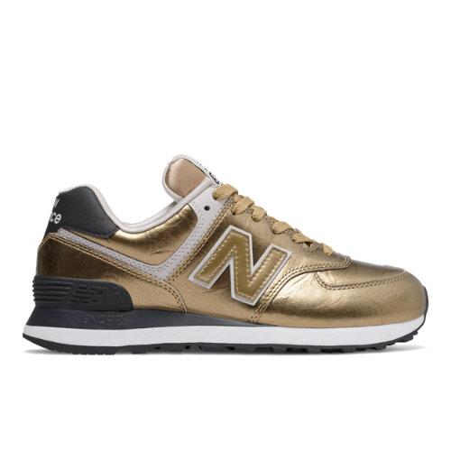 New Balance 574 Women's Lifestyle Shoes - Gold (WL574WEP)