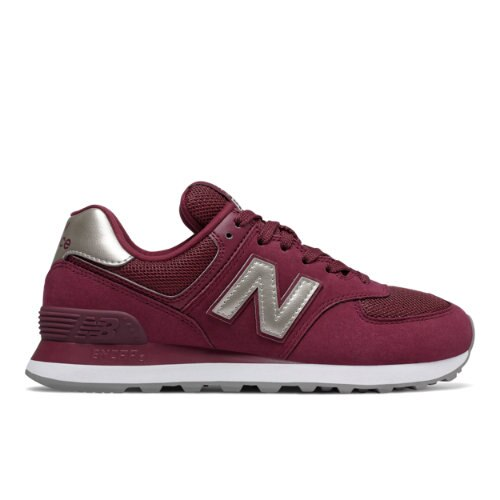 New Balance 574 Women's Shoes - Dark Red (WL574WNL)