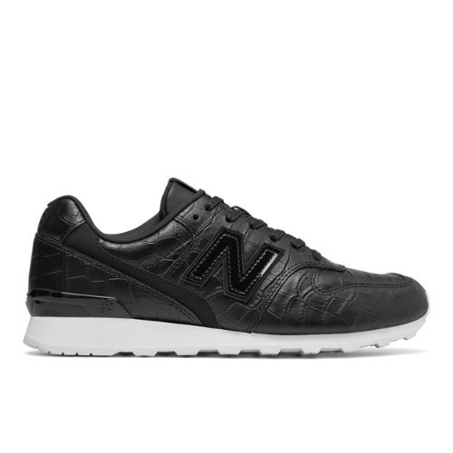New Balance Leather 696 Women's Running Classics Shoes - Black / White (WL696CRB)
