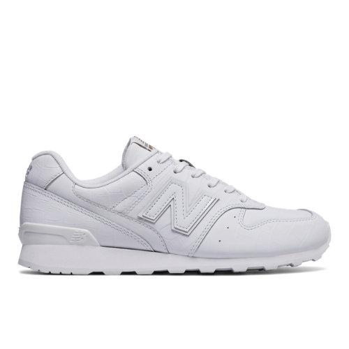 New Balance Leather 696 Women's Running Classics Shoes - White (WL696CRW)