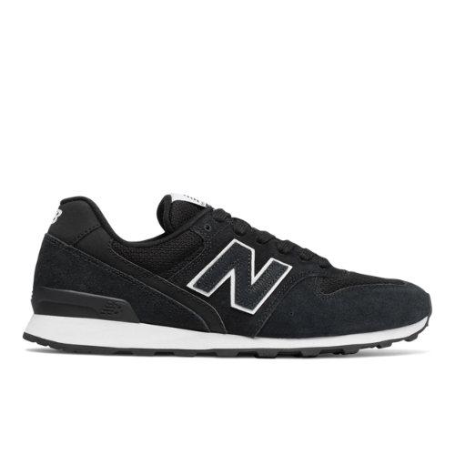 New Balance 696 Women's Running Classics Shoes - Black / White (WL696LCA)