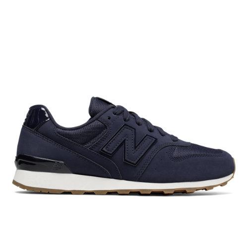 New Balance Nubuck 696 Women's Running Classics Shoes - Dark Blue / Off White (WL696SKF)