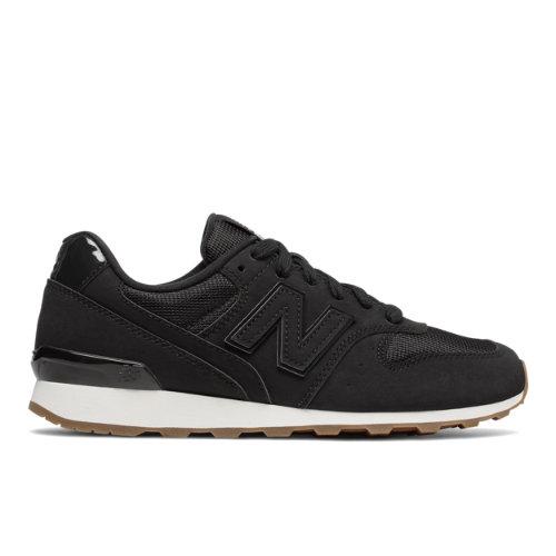 New Balance Nubuck 696 Women's Running Classics Shoes - Black / Off White (WL696SKG)