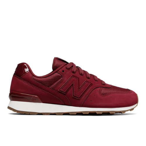 New Balance Nubuck 696 Women's Running Classics Shoes - Mercury Red / Off White (WL696SKH)