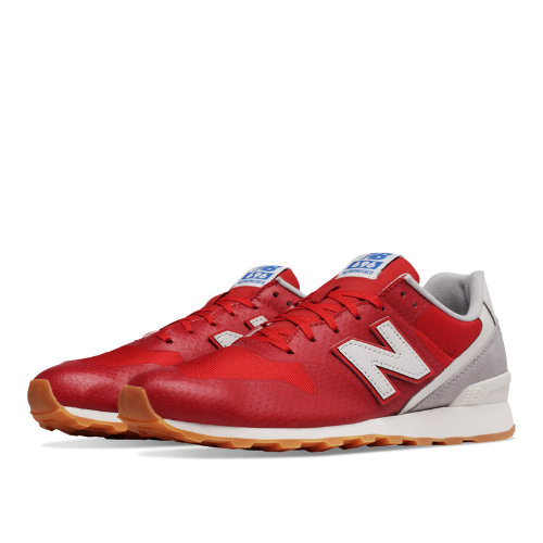 New Balance 696 Re-Engineered Women's Shoes - Red / Light Grey (WL696WC)