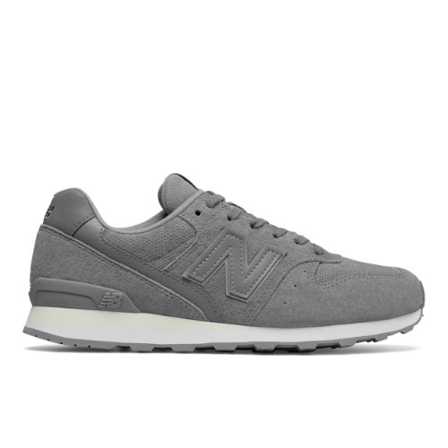 New Balance 696 Suede Women's Running Classics Shoes - Grey / White (WL696WPG)