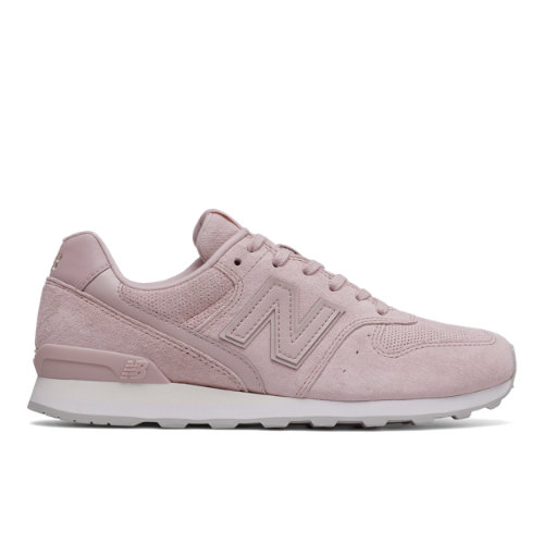 New Balance 696 Suede Women's Running Classics Shoes - Pink (WL696WPP)