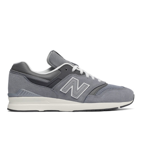 New Balance Leather 697 Women's Running Classics Sneakers Shoes - Grey (WL697CR)
