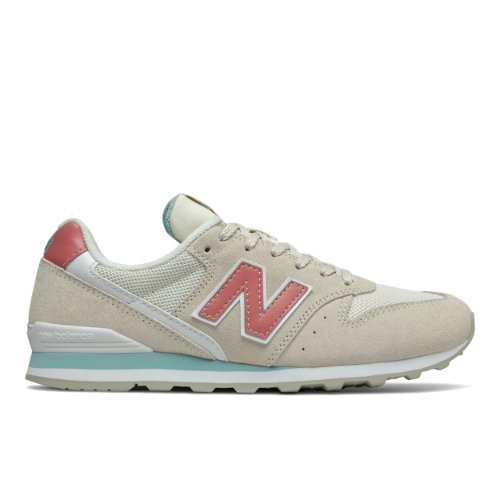 New Balance 996 Women's Running Classics Shoes - Grey / Red (WL996WE)