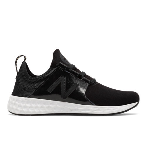 New Balance Fresh Foam Cruz Velvet Women's Soft and Cushioned Shoes - Black (WLCRUZHT)