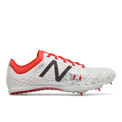 New Balance MD800v5 Spike Women's Track Spikes Shoes - White / Red (WMD800F5)