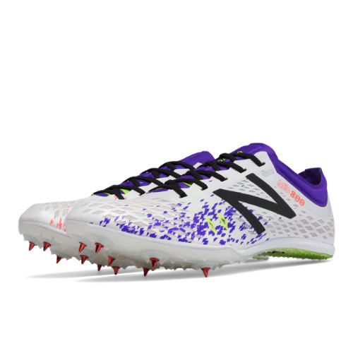 New Balance MD800v5 Spike Women's Track Spikes Shoes - White / Purple (WMD800W5)