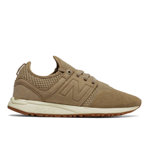 New Balance 247 NB Grey Women's Sport Style Shoes - Beige (WRL247GR)