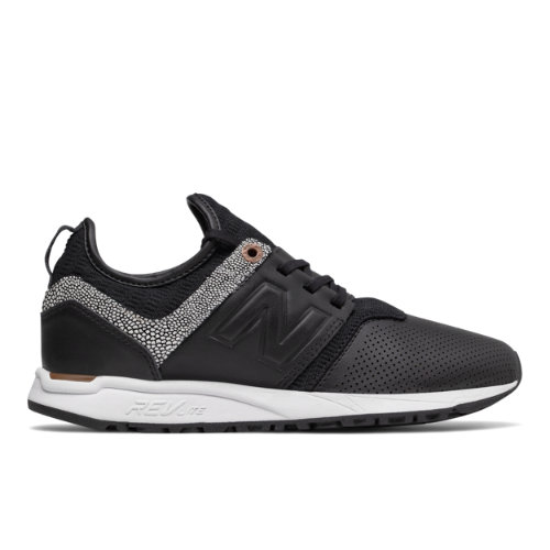 New Balance 247 NB Grey Women's Sport Style Sneakers Shoes - Black / Brown (WRL247GY)