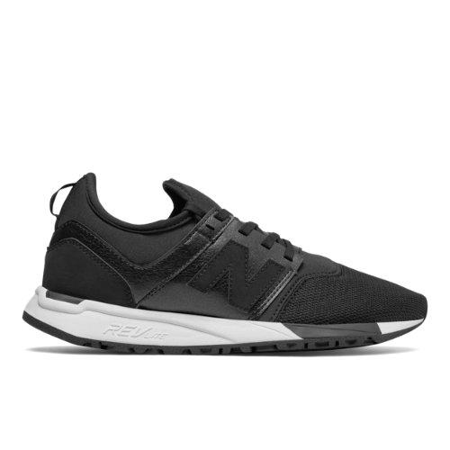 New Balance 247 Classic Women's Sport Style Shoes - Black / White (WRL247HL)