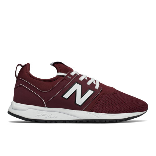 New Balance 247 Classic Women's Sport Style Shoes - Dark Red / Off White (WRL247J5)