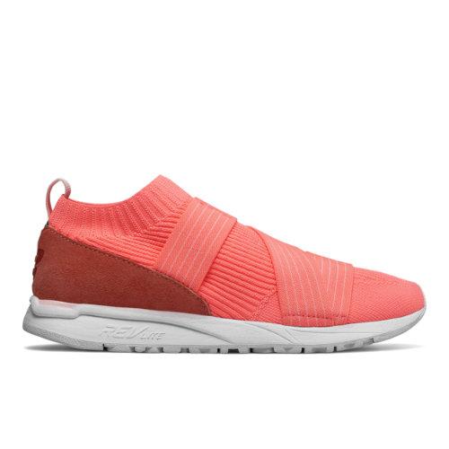 New Balance 247 Knit Women's Sport Style Sneakers Shoes - Fiji Red (WRL247KF)