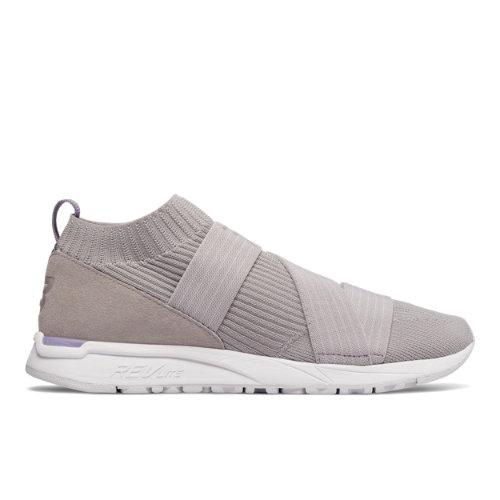 New Balance 247 Knit Women's Sport Style Sneakers Shoes - Light Grey (WRL247KG)