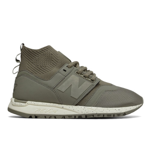 New Balance 247 Mid Women's Sport Style Mid-Cut Shoes - Military Urban Grey / Off White (WRL247OB)