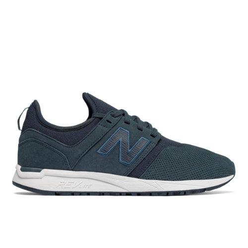 New Balance Nubuck 247 Women's Sport Style Shoes - Navy (WRL247WP)