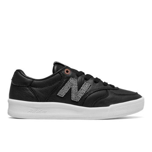 New Balance 300 NB Grey Women's Court Classics Sneakers Shoes - Black / Brown (WRT300GR)