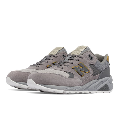 New Balance 580 Molten Metal Women's Elite Edition Shoes - Grey / Gold (WRT580JB)