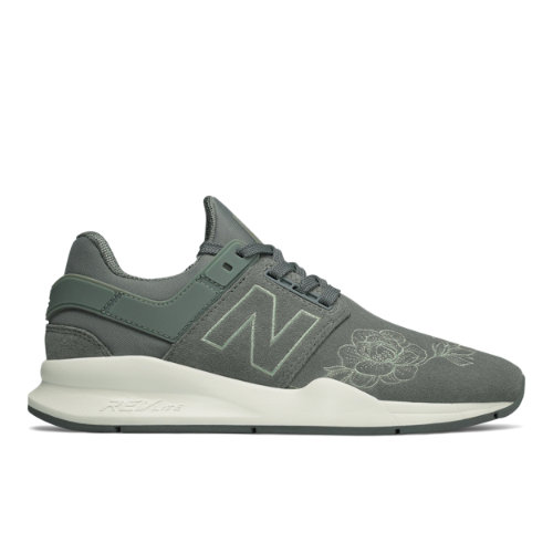 New Balance 247 Floral Women's Sport Style Shoes - Grey (WS247NR)