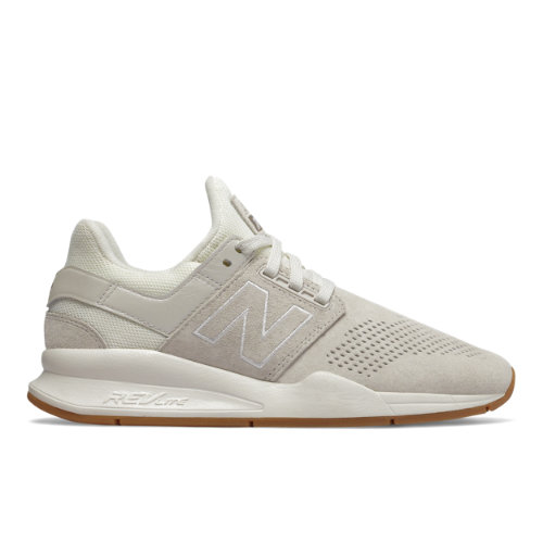 New Balance 247 Luxe Women's Sport Style Shoes - Off White (WS247PB)