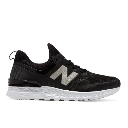 New Balance 574 Sport Women's Sport Style Sneakers Shoes - Black (WS574SAD)