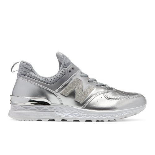 New Balance 574 Sport Women's Sport Style Sneakers Shoes - Silver (WS574SAS)