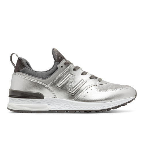 New Balance 574 Sport Women's Sport Style Sneakers Shoes - Silver (WS574SFG)