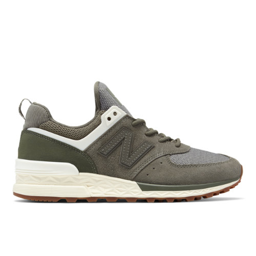 New Balance 574 Sport Women's Sport Style Shoes - Military Green / Off White (WS574SFJ)