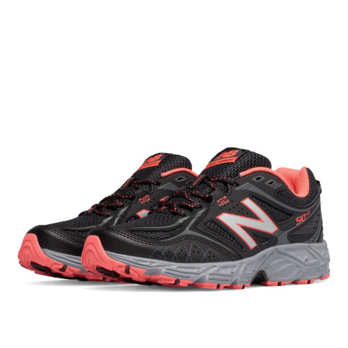 New Balance 510v3 Trail Women's Shoes - Black / Dragonfly / Silver (WT510LI3)