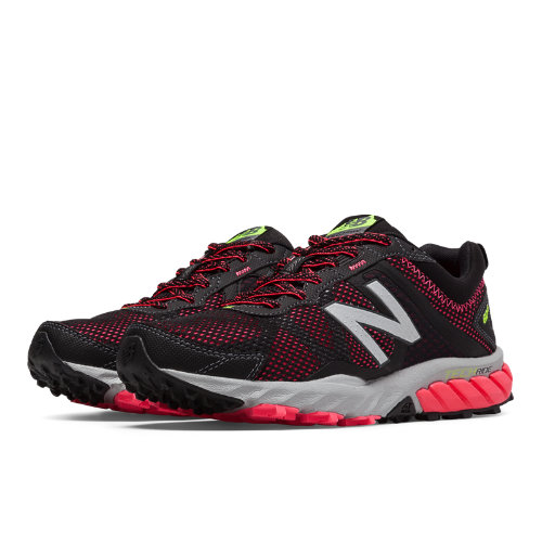 New Balance 610v5 Women's Everyday Running Shoes - Black, Pink Zing (WT610LB5)