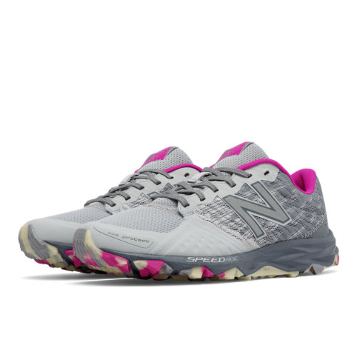 New Balance Reflective 690v2 Trail Women's Trail Running Shoes - Silver / Pink / Grey (WT690LP2)
