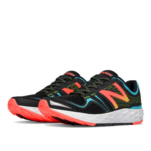 New Balance Fresh Foam Vongo Women's Soft and Cushioned Shoes - Black, Bayside, Lava (WVNGOBB)