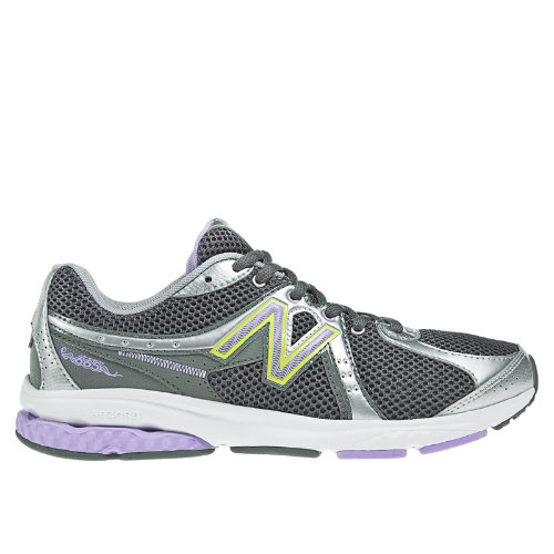 New Balance 665 Women's Fitness Walking Shoes - Silver, Purplehaze, Grey (WW665BP)