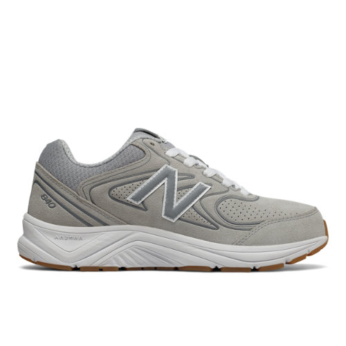 New Balance Suede 840v2 Women's Walking Shoes - Grey / White (WW840GY2)