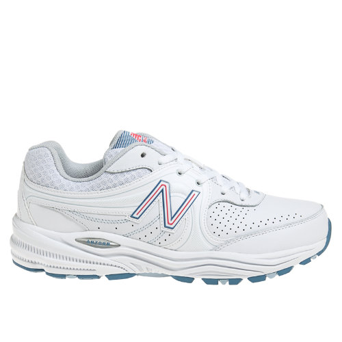 New Balance 840 Women's Health Walking Shoes - White, Pink, Light Blue (WW840WP)