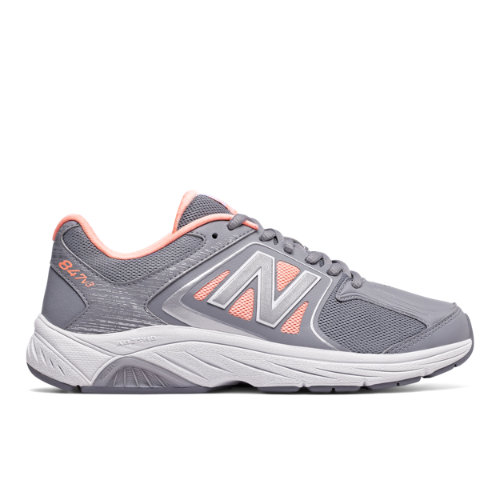 New Balance 847v3 Women's Health Walking Shoes - Grey / Pink (WW847GY3)
