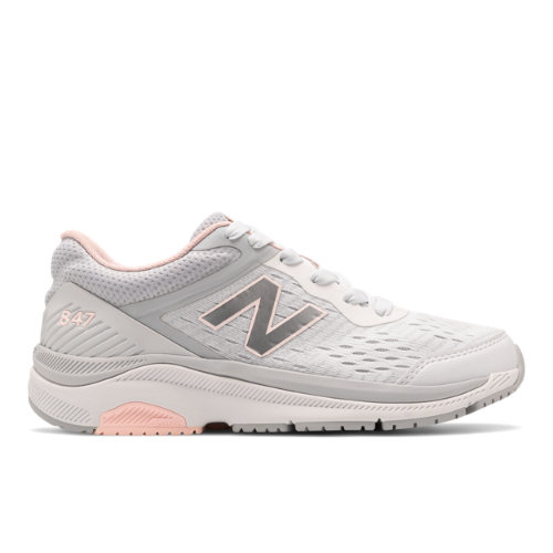 New Balance 847v4 Women's Walking Shoes - Grey / Pink (WW847LW4)