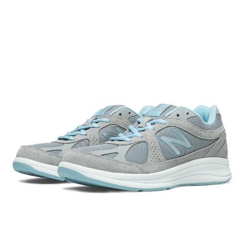 New Balance 877 Women's Health Walking Shoes - Silver, Aqua (WW877SB)