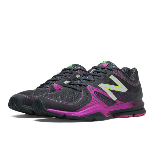 New Balance 1267 Women's Cross-Training Shoes - Black, Purple Cactus Flower (WX1267BP)