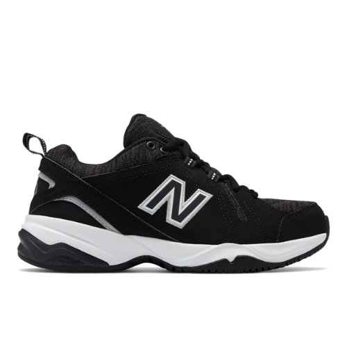 New Balance 608v4 Women's Everyday Trainers Shoes - Black / White (WX608HB4)