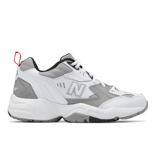 New Balance 608v1 Women's Everyday Trainers Shoes - White / Grey (WX608RG1)