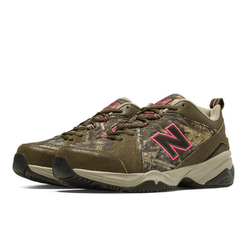 New Balance 608v4 Women's Everyday Trainers Shoes - Brown, Tan, Pink Glo (WX608V4C)